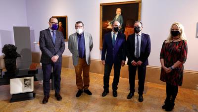 El presidente de la Diputación de Zaragoza, Juan Antonio Sánchez Quero, y el presidente del Gobierno de Aragón, Javier Lambán