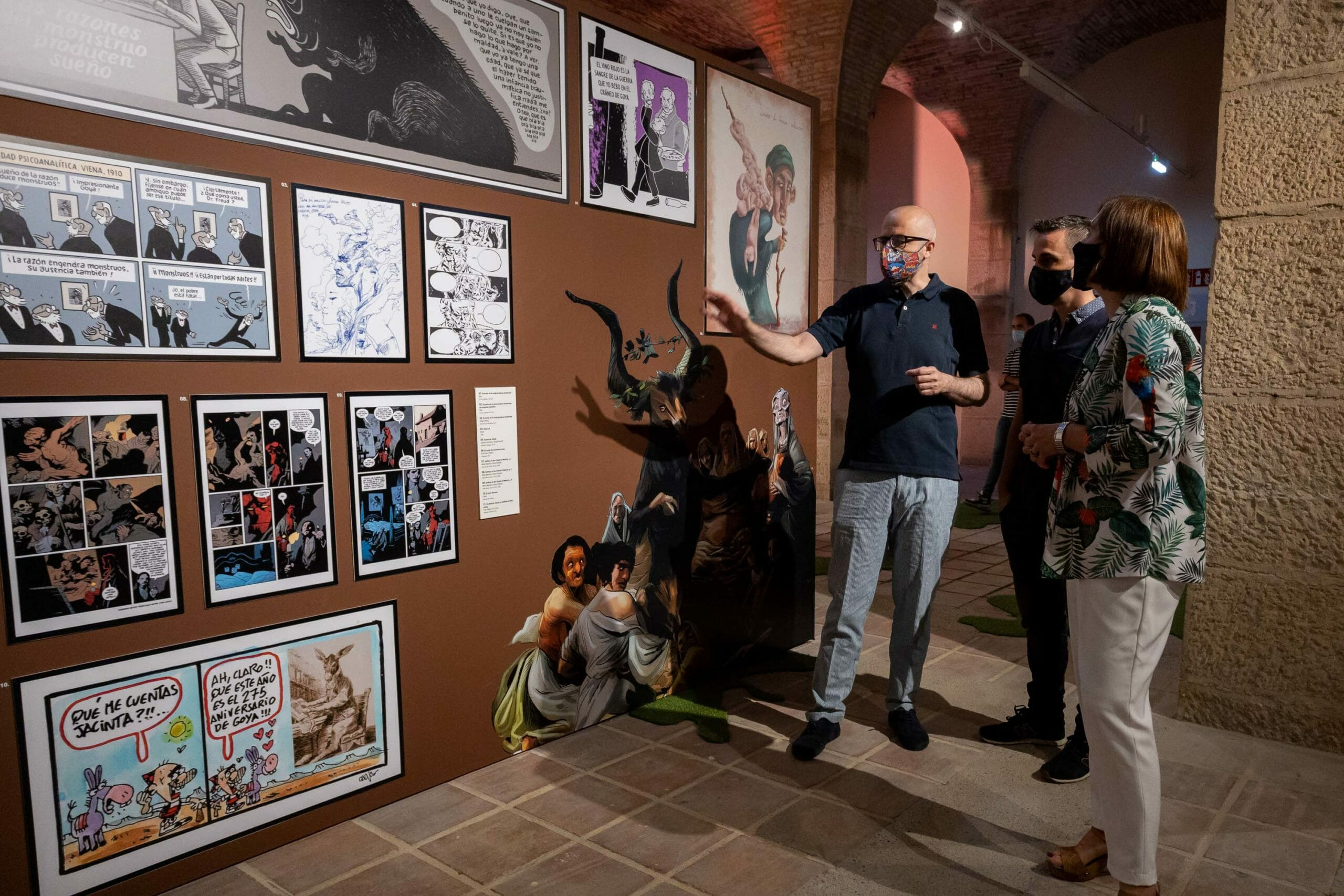 """Fotografías: Miguel G.García. La exposición """"El cómic y Goya. Una muestra de veneración"""""""